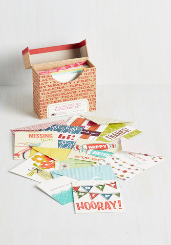 All-Occasion Notecard Set by Chronicle Books - Multi, Multi, Graduation, Good, Hostess, Top Rated