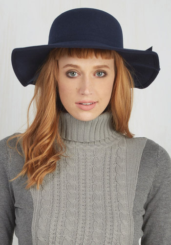 Topper the Morning Hat in Navy - Blue, Solid, Nautical, Boho, Minimal, Darling, Casual, Variation, Fall, 70s, Top Rated, Gifts2015, Gals