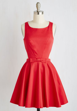 Classic Twist Dress in Ruby