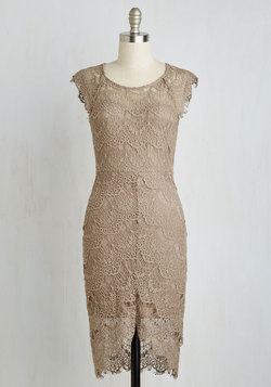Game of Glam Dress in Khaki