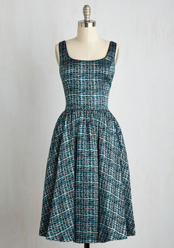Classic Chanteuse Dress in Teal