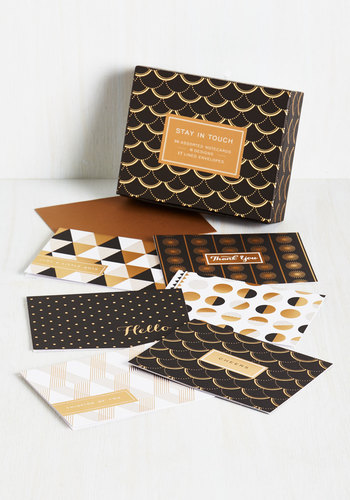 Stationery of the Art Notecard Set by Chronicle Books - Multi, 20s, Good, Black, White, Gold, Print, Vintage Inspired, Top Rated, Holiday, Gifts2015