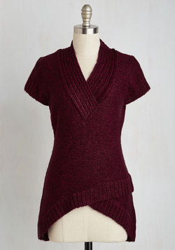 The Layer the Land Sweater in Berry