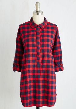 You Camp Do It! Tunic in Crimson