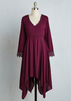 Wisp Reminds Me Dress in Cranberry