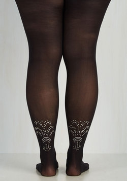 Embellished Ensemble Tights - XL-XXL