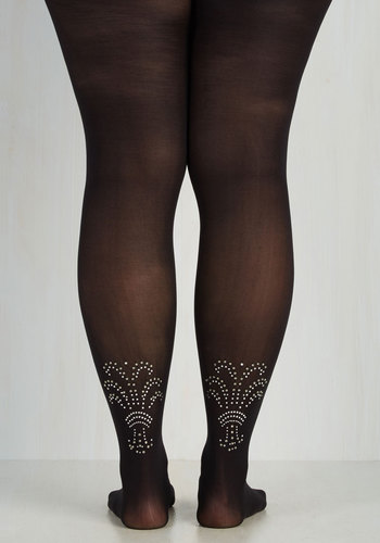 Embellished Ensemble Tights - XL-XXL $24.99 AT vintagedancer.com