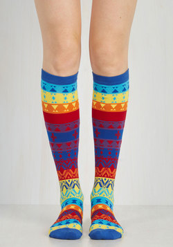 When You and I Kaleidoscope Socks