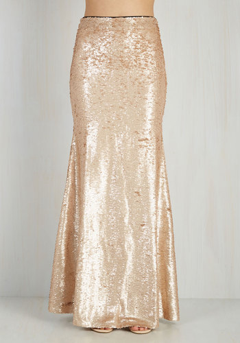 Oh Say Can You Sheen Skirt in Gold $89.99 AT vintagedancer.com