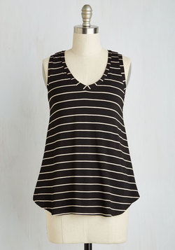 Infinite Options Top in Black Stripes