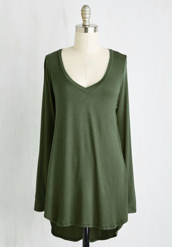 Embracing Basic Top in Olive