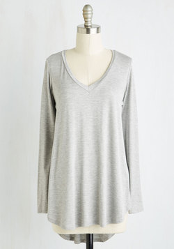 Embracing Basic Top in Grey