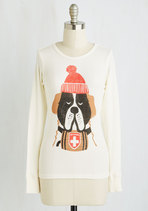 All Bark, Snow Bite Top | Mod Retro Vintage Sweaterscom