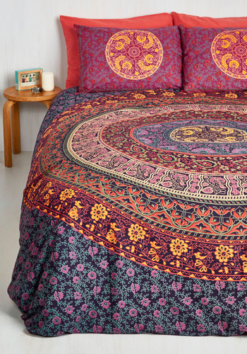 Bohemian Bliss Duvet Cover Set In Magenta Full Queen
