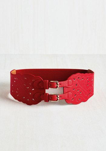 Buenas Noches Belt in Red $26.99 AT vintagedancer.com