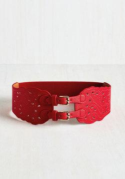 Buenas Noches Belt in Red