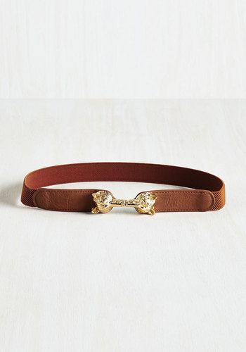 Foxy Moxie Belt in Cognac - Gold, Casual, Critters, Variation, Brown, Brown, Woodland Creature, Fall, Winter, Work