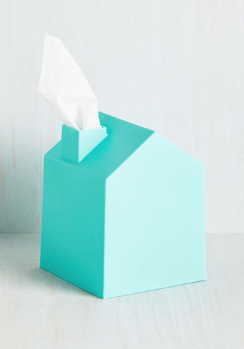 Nose Place Like Home Tissue Holder in Blue