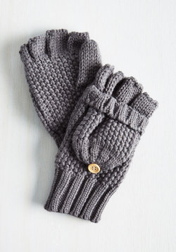 Saturday at the Stables Convertible Gloves in Grey
