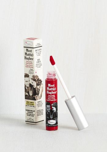 In No Time Matte Liquid Lipstick in Bright Red