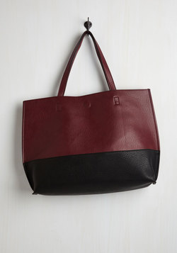 Colorblock and Stroll Bag in Merlot