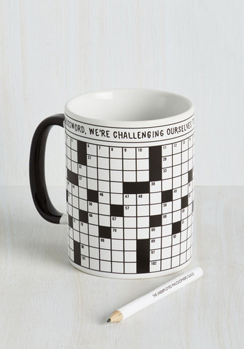 A Way With Crosswords Mug - Multi, Nifty Nerd, Good, Novelty Print, Under $20