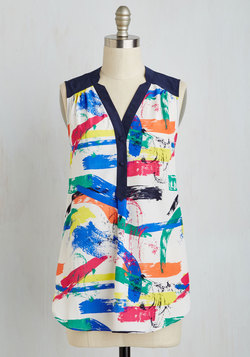 Girl About Easton Tunic in Brushstrokes
