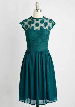 Up and Stunning Dress in Emerald