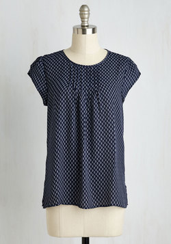 Charmer in Charge Top in Navy