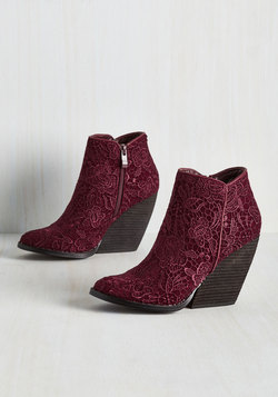 Precious Release Bootie in Burgundy