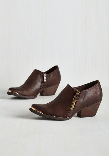 Dignified Stride Bootie in Mocha