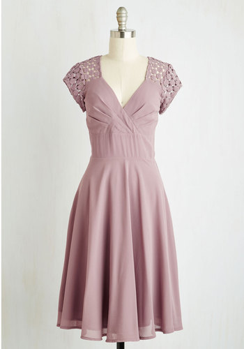 Put a Bard On It Dress in Dusty Lilac $129.99 AT vintagedancer.com