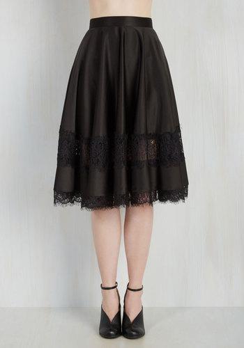 My Kind of Twirl Skirt in Black $69.99 AT vintagedancer.com