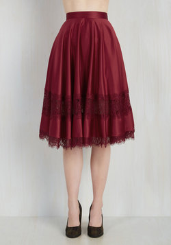 My Kind of Twirl Skirt in Ruby
