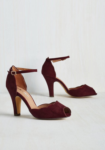 Scallop Your Alley Heel in Maroon $67.99 AT vintagedancer.com
