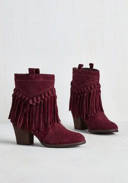Flow Through the Motions Bootie in Burgundy