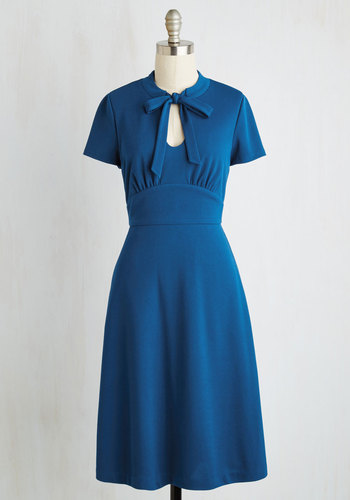 Archival Revival Dress in Lake Blue $89.99 AT vintagedancer.com