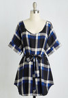 Medium Format Memory Tunic in Blue Plaid