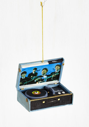 For the Record Ornament - Blue, Music, Holiday