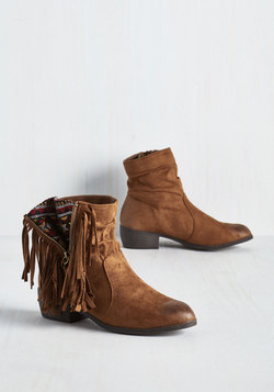 Step Into My Flair Bootie in Cognac