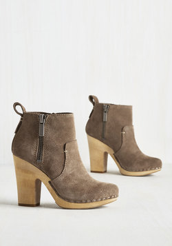 The Belle of Belgium Bootie in Taupe
