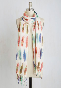 Prettiest Girl in the Plume Scarf