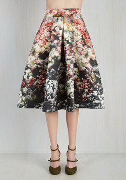 Loveliest Luncheon Skirt in Ombre Bouquet