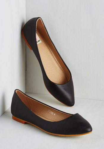 Defined the Scenes Flat in Licorice $29.99 AT vintagedancer.com
