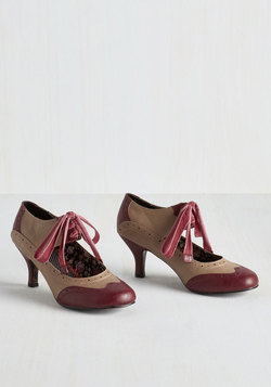 All Demure Reason Heel in Cranberry