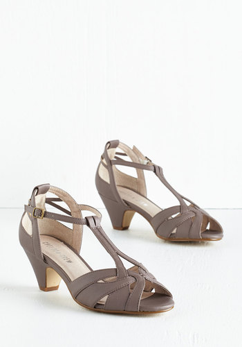 Architectural Tour Heel in Cement - Tan, Daytime Party, Mid, Better, T-Strap, Best Seller