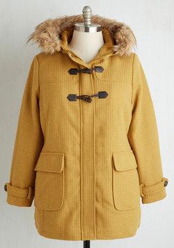 Toasty Transit Coat in Mustard - 1X-3X
