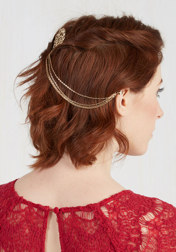 Chain the Rules Hair Comb - Gold, Chain, Party, Vintage Inspired, Statement, 20s, Best Seller, Quirky