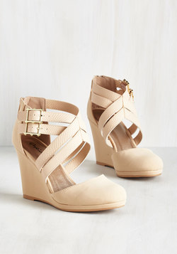 Boost Your Bliss Wedge in Beige