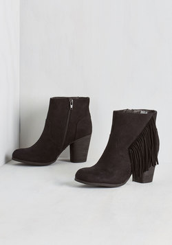 Live Music to My Ears Bootie in Black